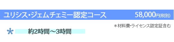 ユリシス・ジェムチェミー認定コース(58,000円)